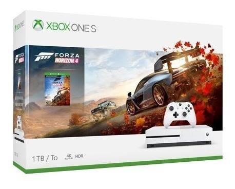 Microsoft Xbox One S 1tb Forza Horizon 4 Bundle, White,