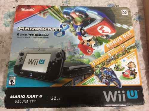 Nintendo Wii U Edición Mario Kart 8 Deluxe Set Completo