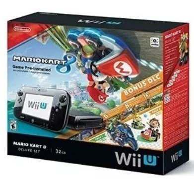 Nintendo Wii U Mario Kart 8 Deluxe Set 32gb Black