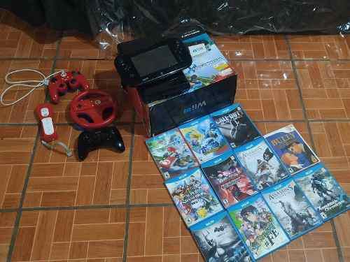Nintendo Wii U Mario Kart Deluxe Set + Controles + Vjuegos