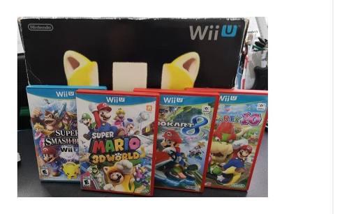 Nintendo Wii U Super Mario 3d Deluxe Set 32gb Y Juegos