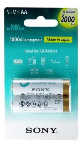 Pila Sony Recargable Aa C/2 2000mah Cycle Energy 97989766
