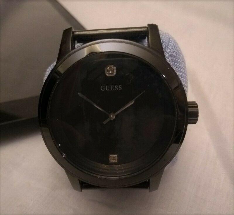 Reloj Guess Hombre Ug1 Black Diamond Dial Mesh