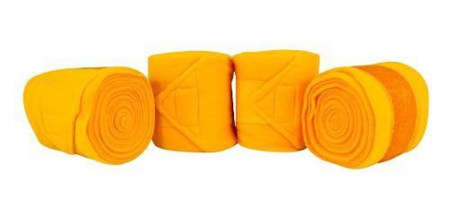 Vendas Finas Para Caballo 4 Piezas Amarillas