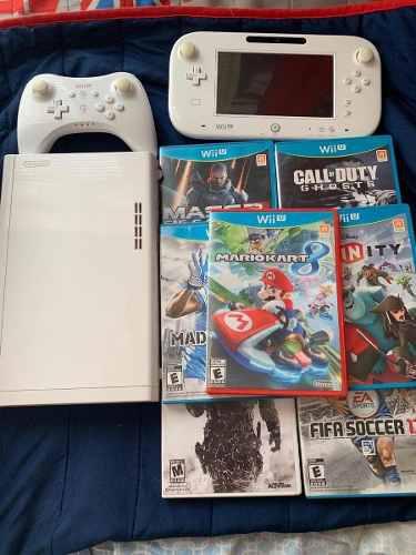 Wii U En Muy Buenas Condiciones Con Juegos Y Controles