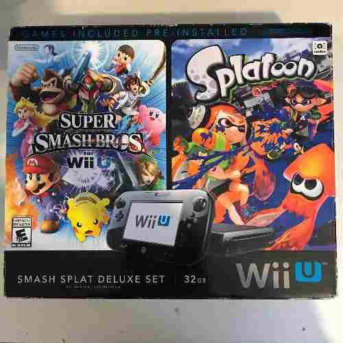 Wii U Smash Splat Deluxe Set + Mario Kart 8