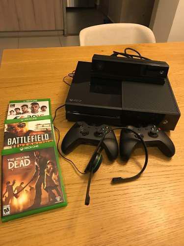 Xbox One En Perfectas Condiciones Con Kinect Y Dos Controles