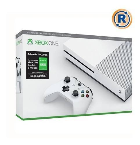 Xbox One S 1tb 3 Meses De Gold 4k Blu-ray Control Bundle