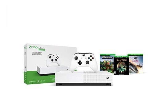 Xbox One S 1tb All Digital - Sin Lector De Discos - 3 Juegos