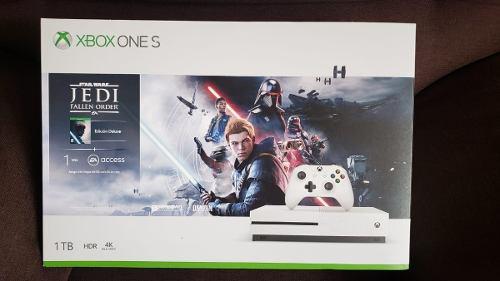 Xbox One S 1tb Con Juego Starwars Jedi Nuevo Sellado