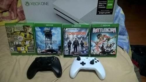 Xbox One S 500gb Con 2 Controles Y 4 Juegos