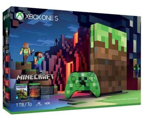 Xbox One S Consola Edicion Limitada Minecraft 1tb