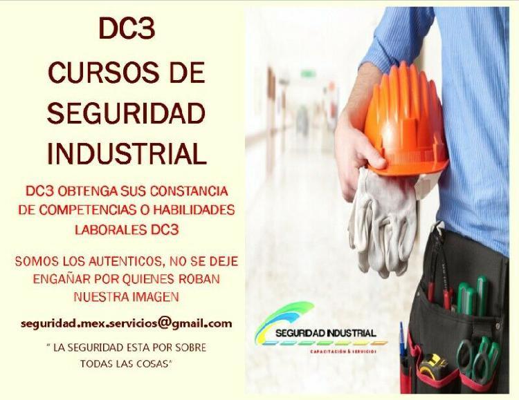 cursos DC3 validez STPS, cursos DC3, seguridad industrial