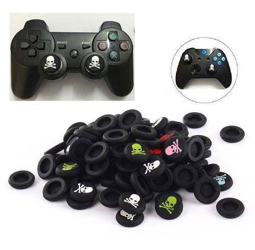 10 Gomas Grips Protector Joystick Xbox One Ps4 Ps3 Calavera