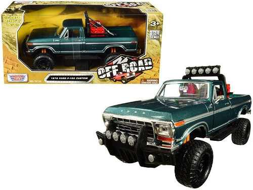 Ford F 150 Custom Pick Up Off Road  Verde Motor Max 1:24