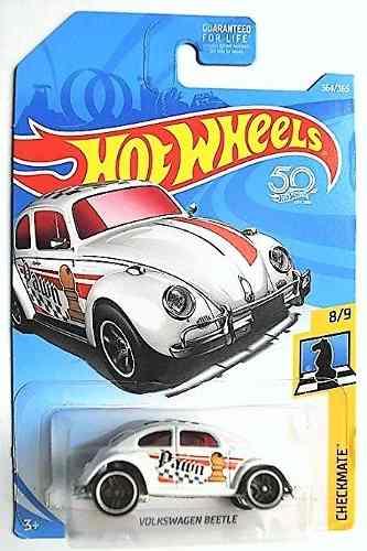 Hotwheels Volkwagen Beetle Jaque Mate  Blanco Vocho
