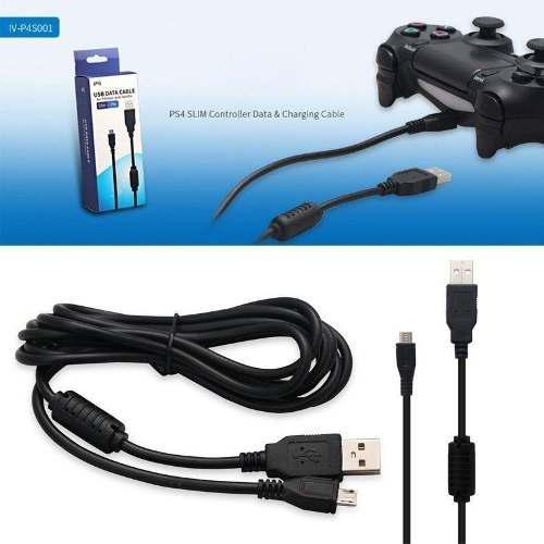 Lote De 2 Cables Usb Control Playstation 4 De 3 Metros Ps4
