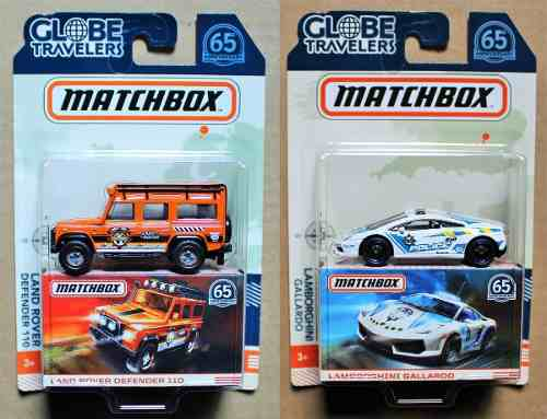 Matchbox Globe Travelers  Lamborghini Land Rover C/u