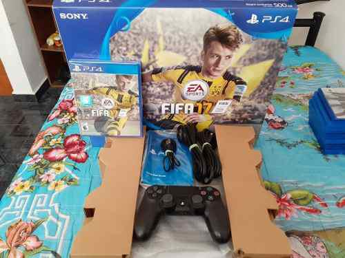 Play Station 4 Slim Ps4 500gb Con Caja Y Fifa 2017