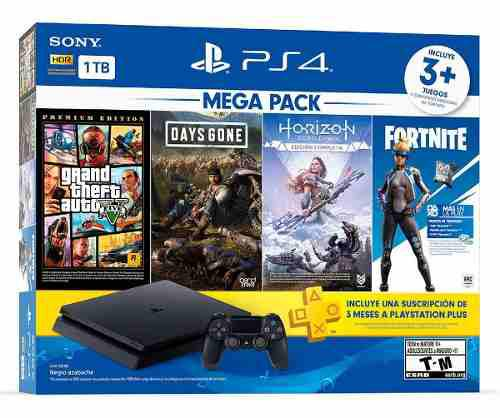 Playstation 4 Mega Pack 6 Bundle 1tb+3 Juegos Fornite Ps4
