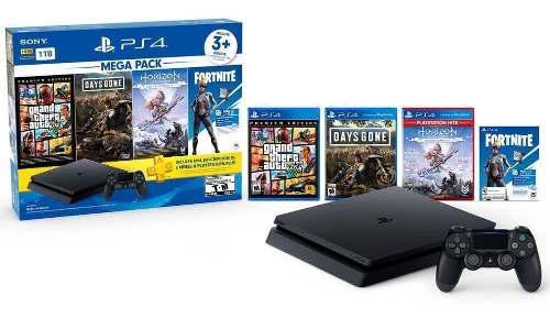 Playstation 4 Ps4 Slim 1tb Dualshock 4 Bundle + 3 Juegos