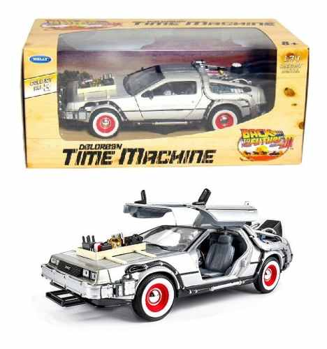 Volver Al Futuro 3 Delorean Time Machine Welly 1/24
