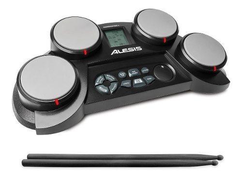 Batería Electrónica Portátil Alesis Compact Kit De 4 Pads