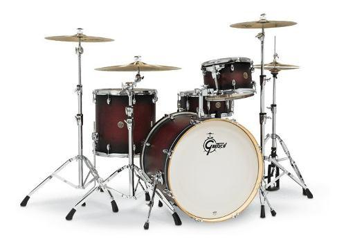 Bateria 4 Piezas Cereza Gretsch Catalina Maple 22 Cm1e824s