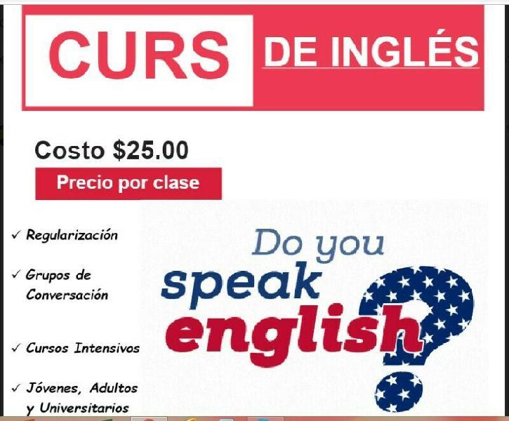 CURSOS Y APOYO EN TRABAJOS DE INGLÉS, MATEMÁTICAS,