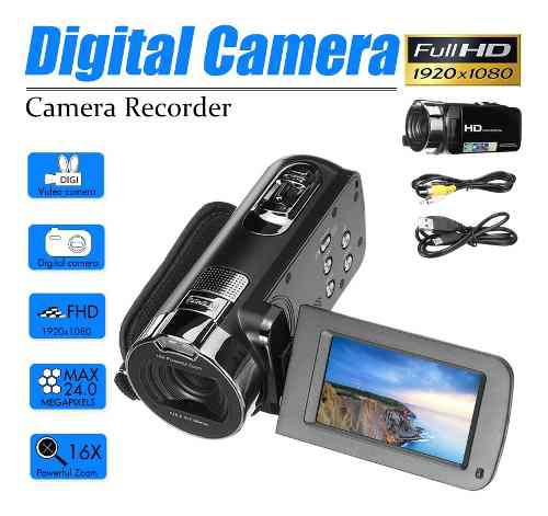 Cámara De Vídeo Videocámara Hd 1080p 24.0mp 2.7 Pulgadas