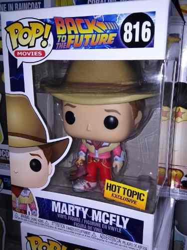 Funko Pop! Marty Mcfly Vaquero Exclusivo Hot Topic