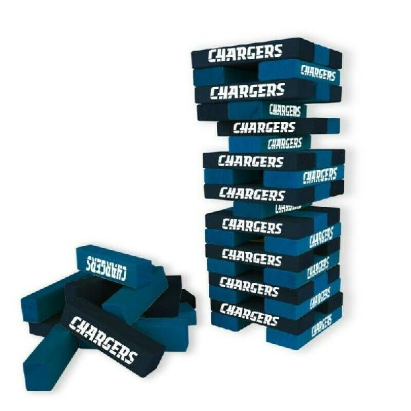 Juego Jenga Mesa Nfl Chargers Table Top Stackers Build Game