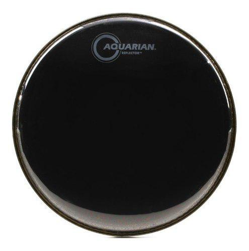 Parche De Batería 12 Aquarian Reflector 2 Capas Negro Ref12
