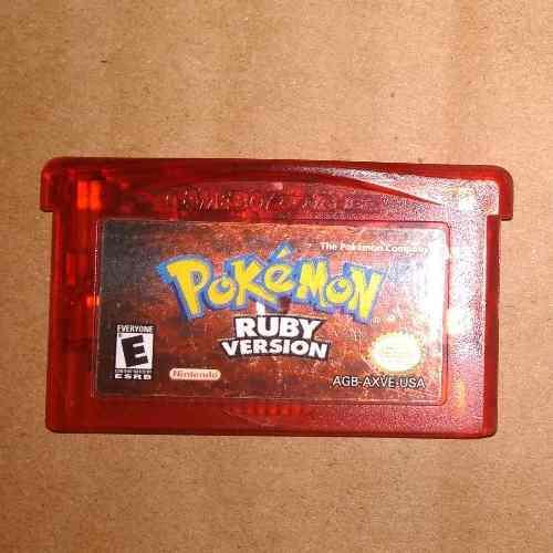 Juego Game Boy Pokemon Ruby Versión Original En Inglés