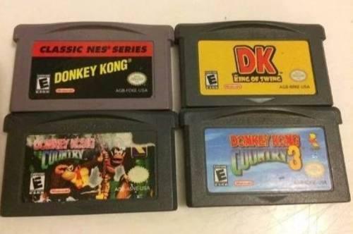 Lote De Juegos De Donkey Kong Game Boy Advance