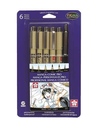 Manga Comic Pro Kit De Dibujo Incluye 6 Unidades Sigma Sakur