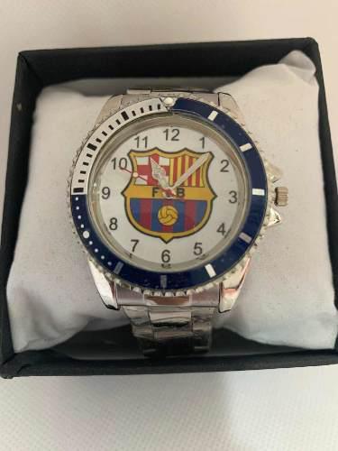 Reloj Deportivo Fútbol Barcelona De Colección Acero Inox