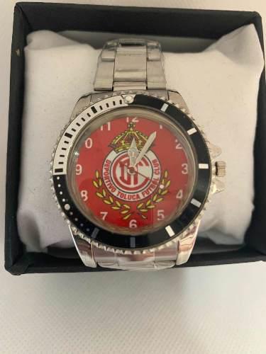 Reloj Deportivo Fútbol Toluca De Colección Acero