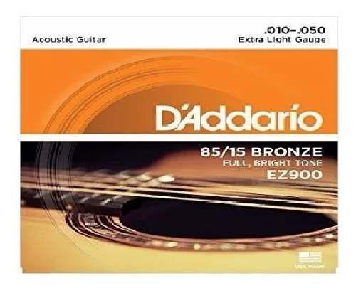 2 Juegos Cuerdas Guitarra Acústica Daddario Ez900 10-50)