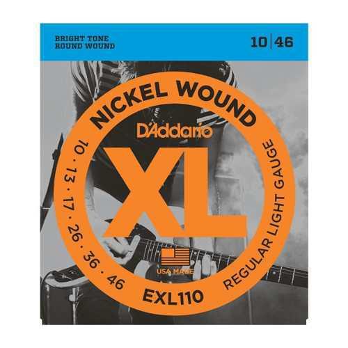 3 Juegos Cuerdas Guitarra Electrica Daddario 10-46 Exl-110)