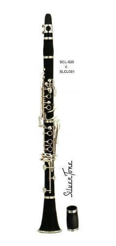 Clarinete Silvertone Sib Negro Slcl001 Estuche Envio Inmedia