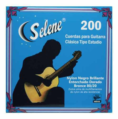 Cuerdas Selene De Guitarra Clasica En Nylon Negro