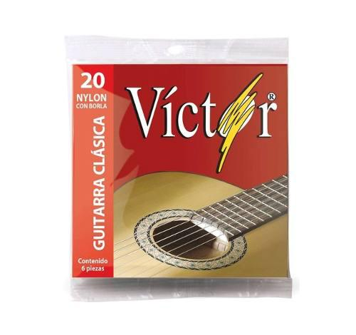 Juego Cuerdas Víctor Guitarra Nylon Negro Borla Envio