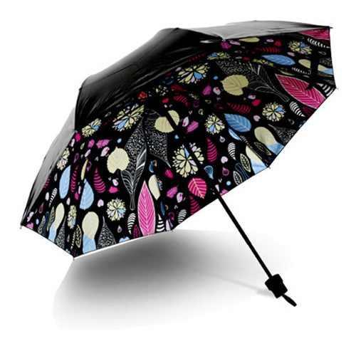 Paraguas Plegable A Prueba De Viento, Antirayos Uv, Sol Y Ll
