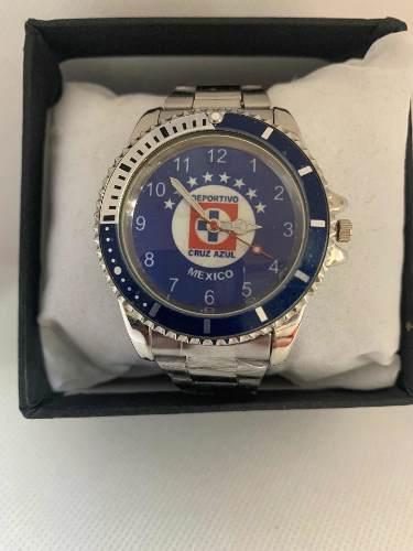 Reloj Deportivo Fútbol Cruz Azul De Colección Acero Inox