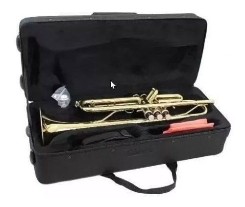 Trompeta Silvertone En Sib Estuche Y Boquilla Modelo Sltp007