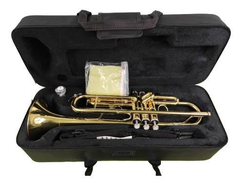 Trompeta Silvertone Laqueada Sltp007 Con Estuche Y Boquilla