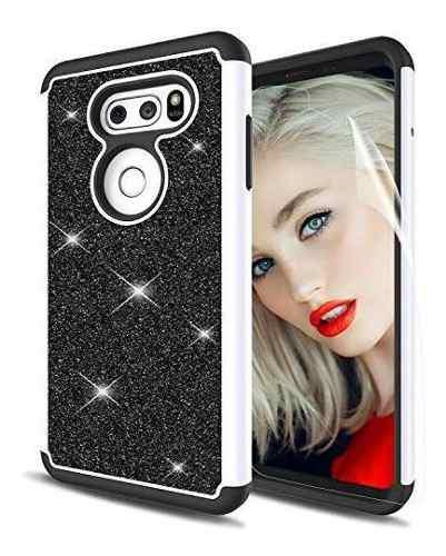 Lg V30 Case Glitter Lg V30 Plus V30 Funda Para Telã©fono C