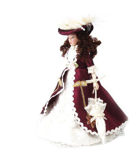 1/12 Dollhouse Miniature Porcelain Dolls Señora Clásica
