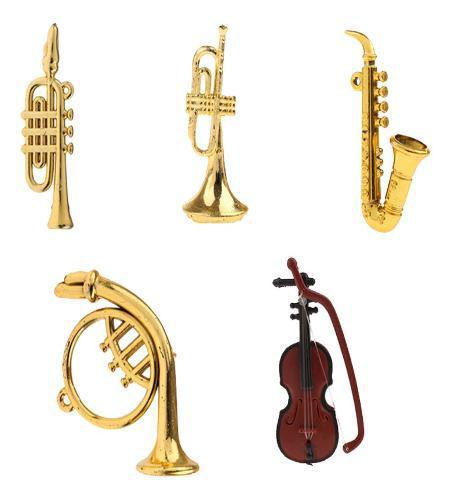 5 Unids Escala 1:12 Miniatura Instrumento Musical De